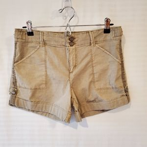 Sanctuary stretch twill rolled shorts khaki 29